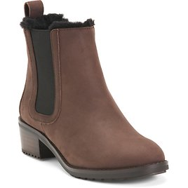Waterproof Shearling Lined Leather Booties