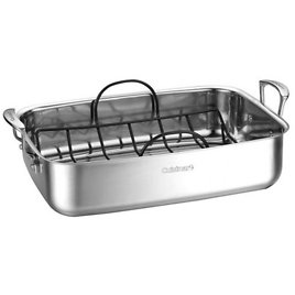 """Cuisinart 15"""" Stainless Steel Roaster with Non-Stick Rack - 83117-15NSR"""