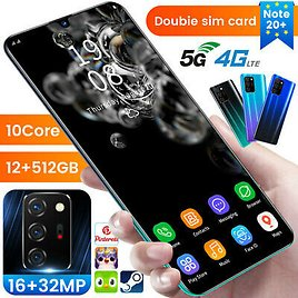 Android Note 20+ Cheap Cell Phone 5G Unlocked Smartphone Dual SIM 10 Core New