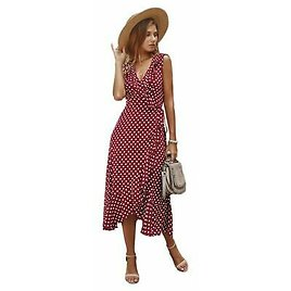 Long Dresses Party V Neck Casual Cocktail Floral Beach Sundress Evening Maxi