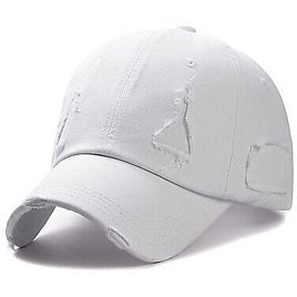 New Unisex Outdoor Washable Baseball Cap White Patch Cap AAA