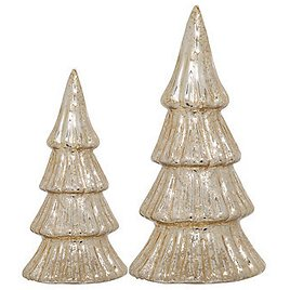 Home Essentials Holiday S/2 Gold Trees & Reviews - Home