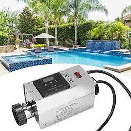 220V Thermostat Electric Water Heater for Swimming Pool SPA Hot Tub 5.5KW/2KW