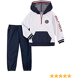 Tommy Hilfiger Baby Boys' 2 Pieces Pullover Pants Set