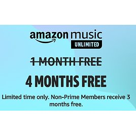 Free 4-Months Amazon Music Unlimited