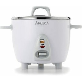 Aroma Rice Cooker Select Stainless & Warmer 14-Cup(cooked) / 3Qt, ARC-757SG 744110665796