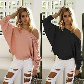 Long Sleeve Shirt Loose Women's Tops Blouse Ladies Fashion T-shirt Casual Solid