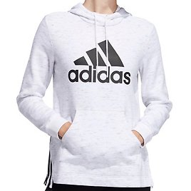 Adidas Hoodie Womens XS or Small White New Post Game Badge of Sport Loose Fit