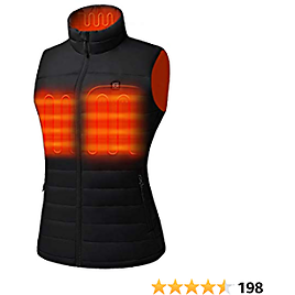 [2020 Upgrade] Women's Heated Vest with Battery Pack 5V, YKK Zippers and Water&Wind Resistant