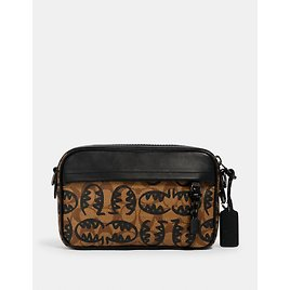 Graham Crossbody in Signature Canvas with Rexy By Guang Yu