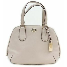 Coach Hand Bag Beiges Leather 1107313