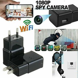 HD 1080P WiFi Recorder USB Wall Charger Mini Motion Hidden Camera Power Adapter