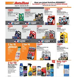 AutoZone Weekly Ad & More!