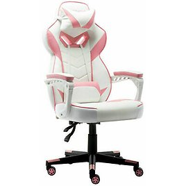 Gaming Chairs Computers High-Back Swivel Chairs Executive Racing Office Pink