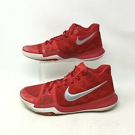Nike Kyrie 3 Sneakers Low Basketball Shoes Lace Up Suede University Red Men 10.5