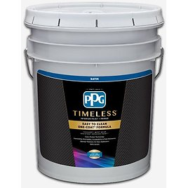5 Gal. Pure White/Base 1 Satin Interior Paint with Primer