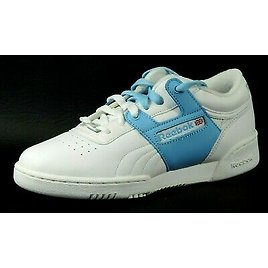 Reebok Womens Shoes Workout Low Sport SE 2-153974 Blue Leather Sneakers Running