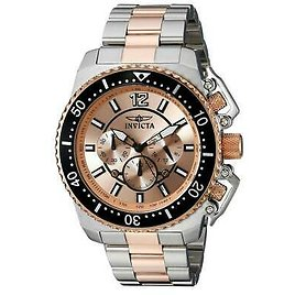 Invicta 21956 Gent's Chrono Rose Gold Dial Two Tone Bracelet Watch 886678269310