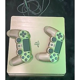 Sony PS4 Slim Gold 1TB Special Edition Console + 2 Controllers