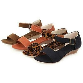 Womens Slingback Sandals Low Wedge Heels Open Toe Pumps Shoes Casual Summer Size