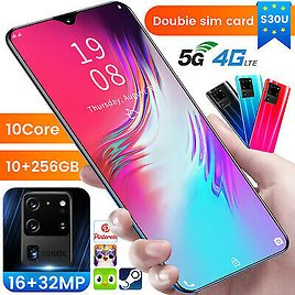 S30U Unlocked Cell Phone 10+256GB Android10 Smartphone Dual SIM 10 Core Cheap 5G