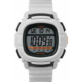 Timex Men's Watch Command Digital Grey Dial White Rubber Strap TW5M26400