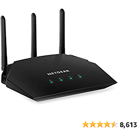 NETGEAR WiFi Router (R6330) - AC1600 Dual Band Wireless Speed (up to 1600 Mbps) | Up to 1200 Sq Ft Coverage & 20 Devices | 4 X 1G Ethernet and 1 X 2.0 USB Ports (R6330-1AZNAS)
