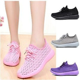 Women Soft Breathable Mesh Sports Shoes Casual Flat Students Running Sneakers