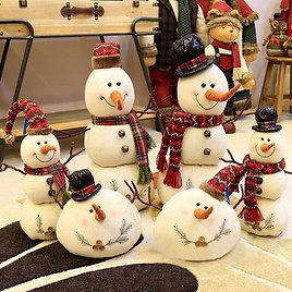 Christmas 2017 Linen Snowman Dolls Ornament Table Desk Decoration Christmas Gifts for KidsFestival Gifts & Party SuppliesfromHome and Gardenon Banggood.com