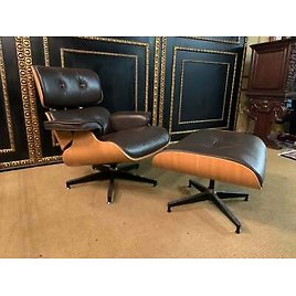 Lounge Chair/Armchair with Stool Made from Real Leather Made in Italy