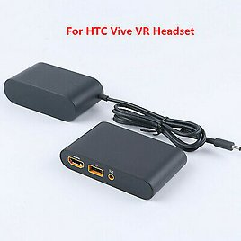 For HTC Vive VR Headset Virtual Reality Link Box with Power Adapter Cable Set