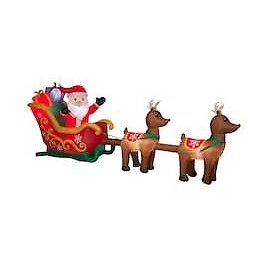 12.5ft. Airblown® Inflatable Santa's Sleigh with Reindeer