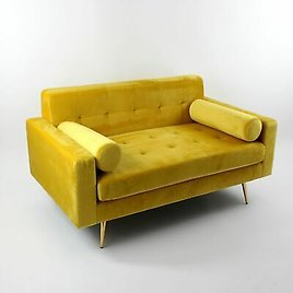 Quality Trend Sofa IN Yellow Model Kylie 145cm Couch Armchair Lounge Sofa New