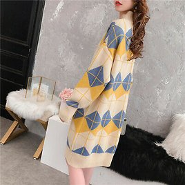 Womens Casual Loose Sweater Dress Fall Winter Thicken Pullover Knitted Dresses