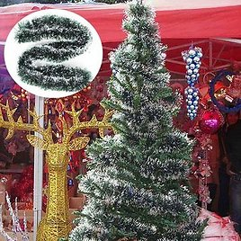2m Christmas Rattan Pendant Green White Grass Xmas Tree DecorationFestival Gifts & Party SuppliesfromHome and Gardenon Banggood.com