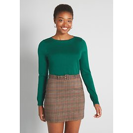 Charter School Boatneck Pullover Sweater
