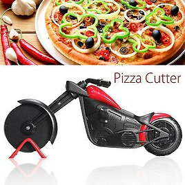 Stainless Steel Motorcycle Pizza Cutter Wheel Cake Slicer Kitchen Gadget Tool 7445005027073