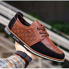 Men Casual Driving Boat Faux Leather Moccasin Slip On Loafers Lightweight Shoes