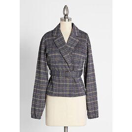 Silver and Bold Plaid Jacket