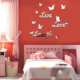 EE_ Live Laugh Love Quote Removable Wall Stickers Mirror Decal DIY Room Decor Ch