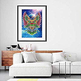 5D Diamond Painting Kits for Kids & Adult,DIY Canvas Painting By Numbers for Home Wall Decor
