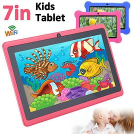 """7"""" HD WiFi Android Tablet PC Quad Core Kids Children Dual Camera Education Gift"""
