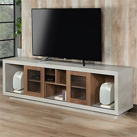 """Furniture of America Oox Industrial Wood 70"""" TV Stand in Walnut"""