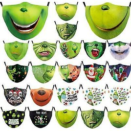 New Christmas Theme Washable Reusable Face Mask Covering Ladies Kids Merry Adult