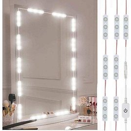 10-foot LED Vanity Mirror Lights with Dimmable Touch Control