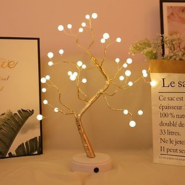 US $15.04 41% OFF|LED Night Light Mini Christmas Tree Copper Wire Garland Lamp For Home Kids Bedroom Decor Fairy Lights Luminary Holiday Lighting|LED Night Lights| - AliExpress
