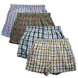 US $11.82 52% OFF|High Quality Brand 4 Pack Men's Boxer Shorts Woven Cotton 100% Classic Plaid Combed Male Underpant Loose Breathable Oversize|Boxers| - AliExpress