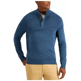 Men's Ribbed Four-Button Sweater