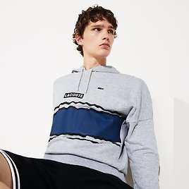 Men's SPORT Logo and Banded Stripe Hoodie White