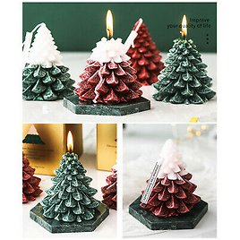 Christmas Tree Shape Fragrant Scented Candles Aromatherapy Wax Candle Home Party